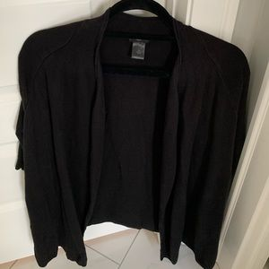 Ann Taylor Petite Black Short Sleeve Sweater
